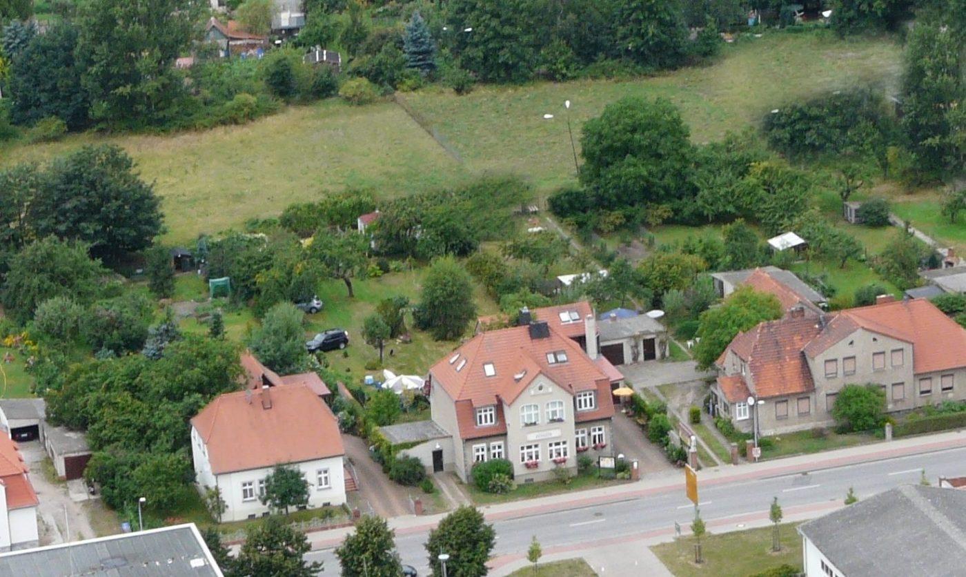 Luftaufnahme Elb Havel Pension - Havelberg